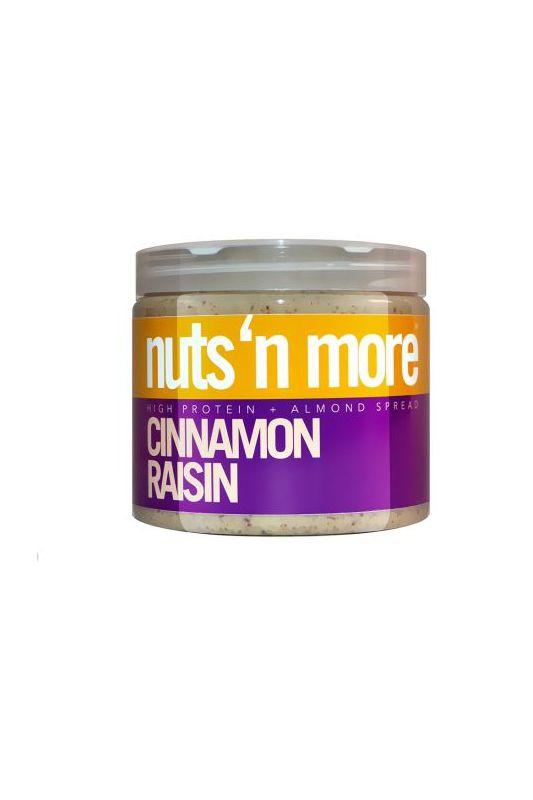 Nuts`N more Mandľové maslo škorica - hrozienka s proteínom