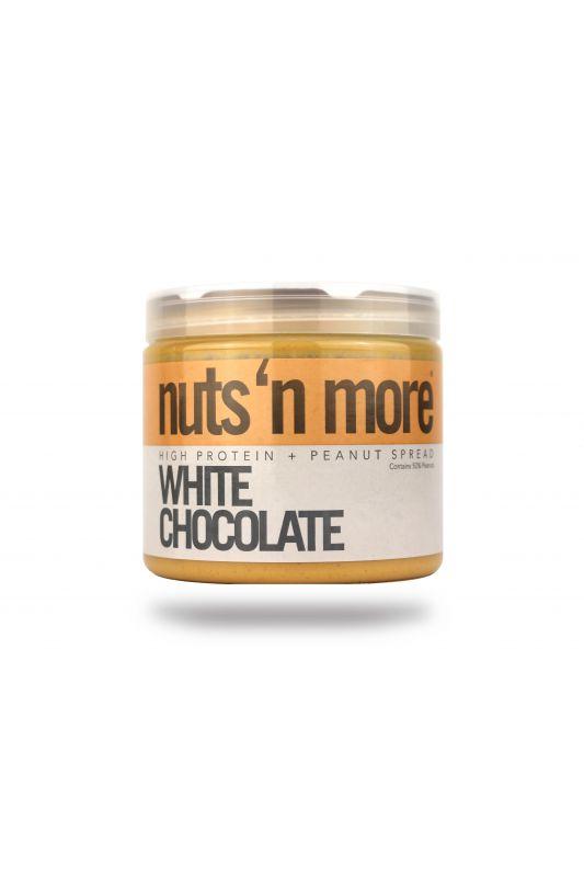 Nuts`N more Arašídové maslo biela čokoláda s proteínom