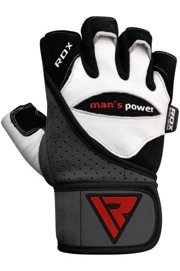 RDX RDX Men's Power Weisse Lederhandschuhe
