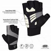 RDX Ferris Fitness Leather S14 GRAY Handschuhe