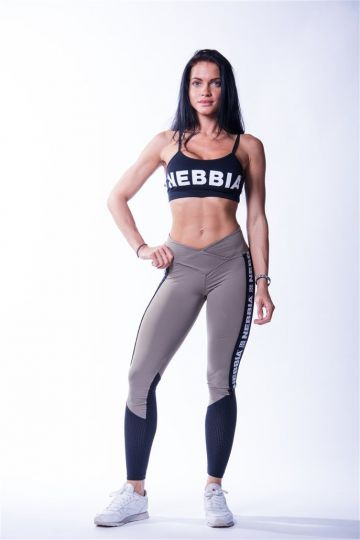 NEBBIA High Waist Mesh Damen Leggings 601