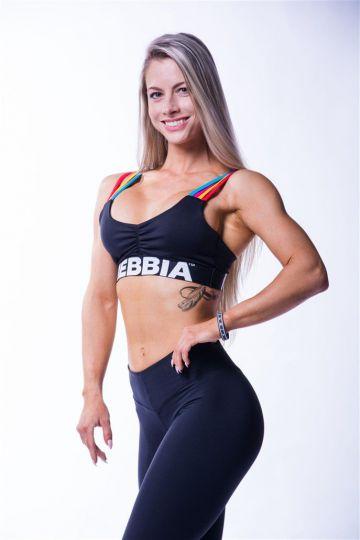 NEBBIA Dámsky Mini Top Rainbow 621
