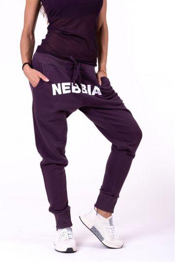 NEBBIA Street drop crotch tepláky 274 - Burgundy